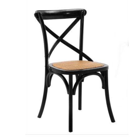 Barista Black Cross Back Dining Chairs