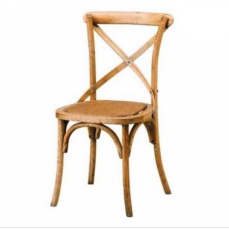 Barista Oak Cross Back Chairs