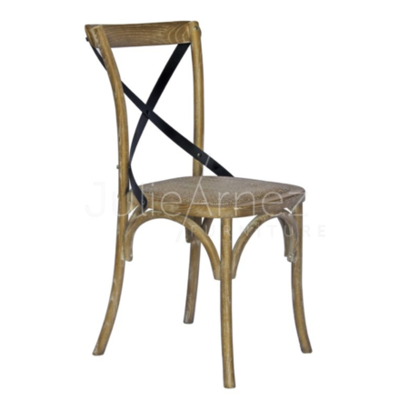 Cross Back Greywash Dining Chairs